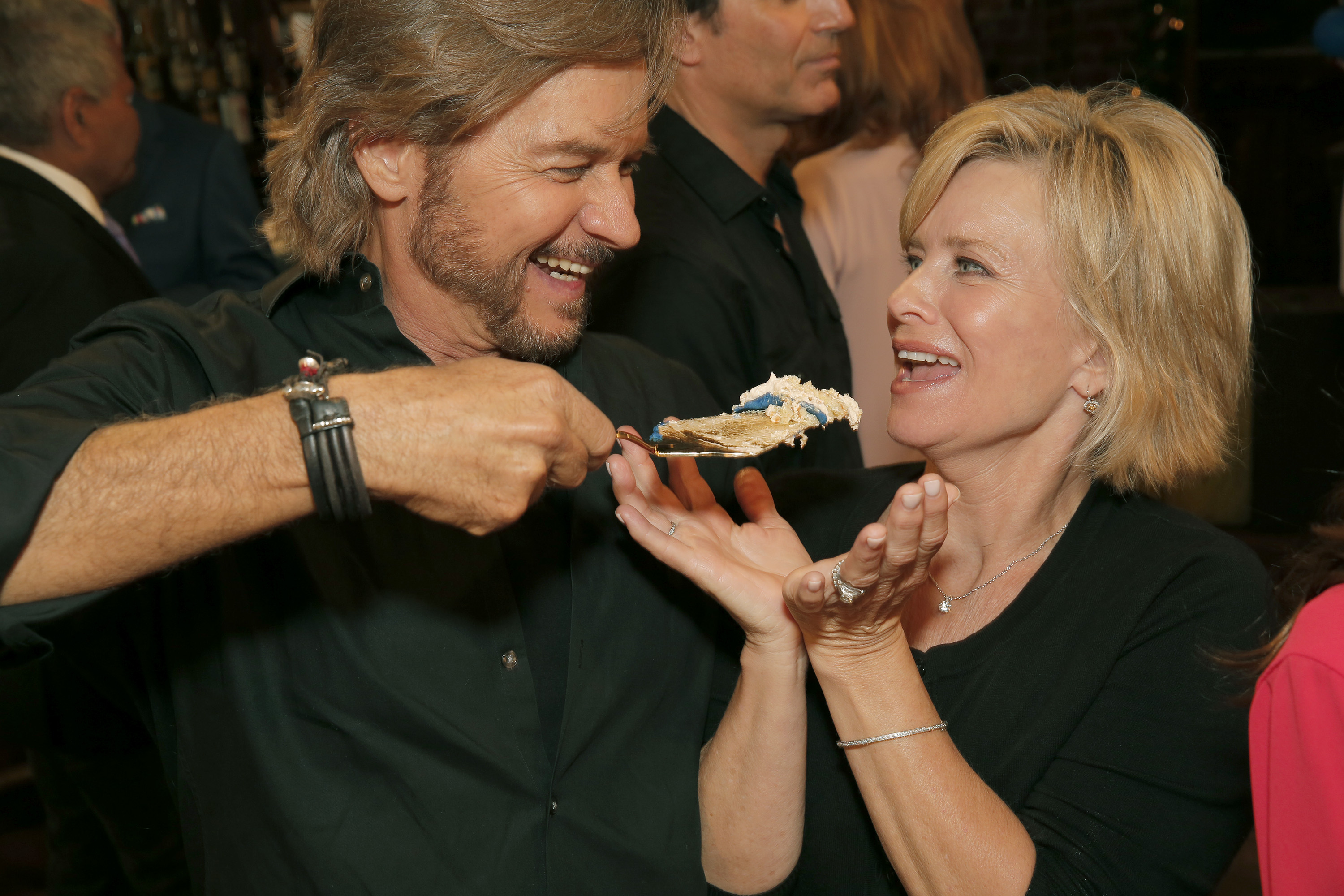 DAYS OF OUR LIVES -- 13,000th Episode Celebration -- Pictured: (l-r) Stephen Nichols, Mary Beth Evans -- (Photo by: Chris Haston/NBC/NBCU Photo Bank via Getty Images)