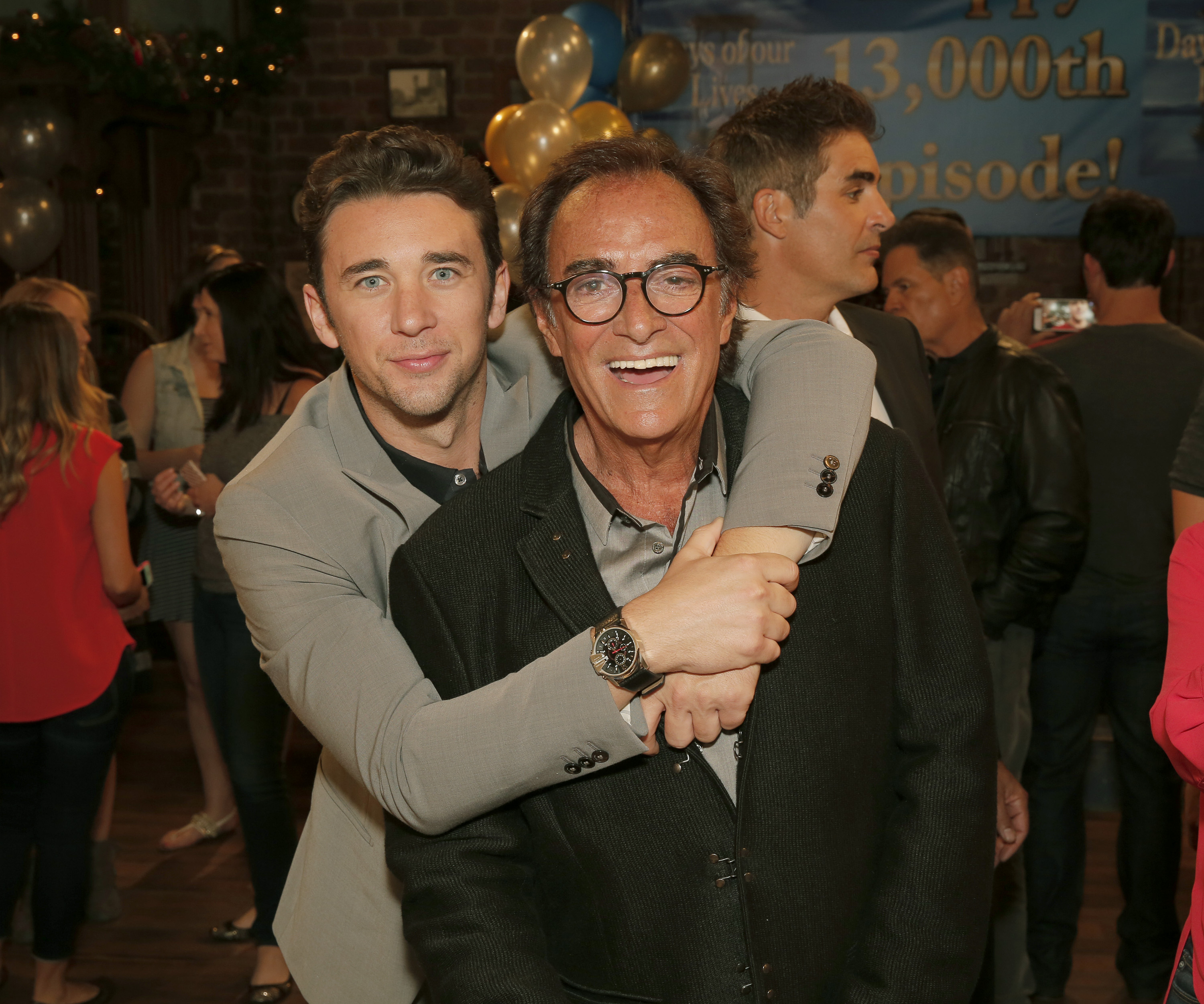 DAYS OF OUR LIVES -- 13,000th Episode Celebration -- Pictured: (l-r) Billy Flynn, Thaao Penghlis -- (Photo by: Chris Haston/NBC/NBCU Photo Bank via Getty Images)