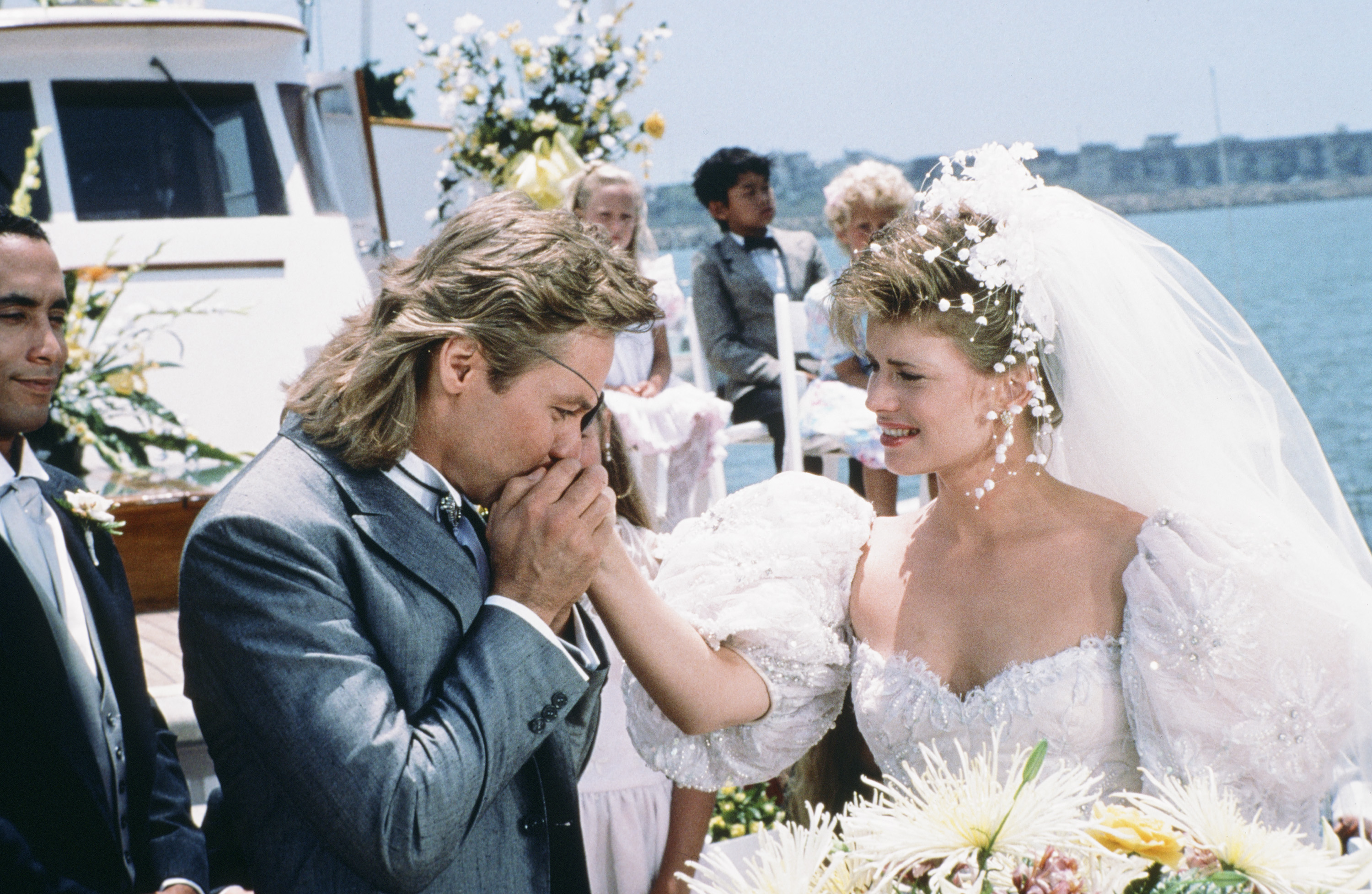 "DAYS OF OUR LIVES -- ""Patch Johnson & Kayla Brady 1st Wedding"" -- Pictured: (l-r) Stephen Nichols as Steve ""Patch"" Johnson, Mary Beth Evans as Dr. Kayla Brady Johnson -- (Photo by: Ron Tom/NBC/NBCU Photo Bank via Getty Images)"