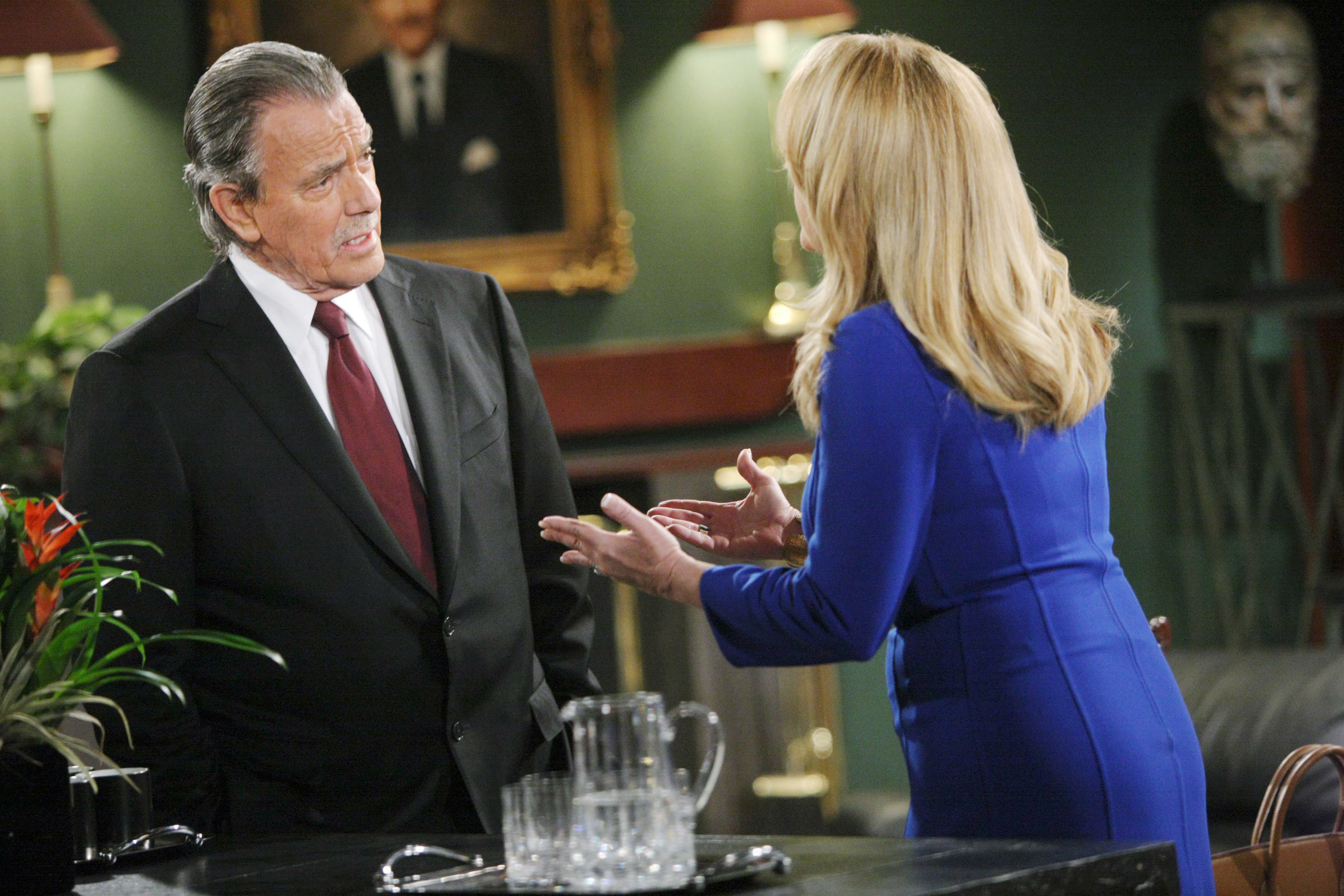 """Melody Thomas Scott, Eric Braeden """"The Young and the Restless"""" Set  CBS television City Los Angeles 04/22/14 Ω Sean Smith/jpistudios.com 310-657-9661 Episode # 10417 U.S. Airdate 05/22/14"""