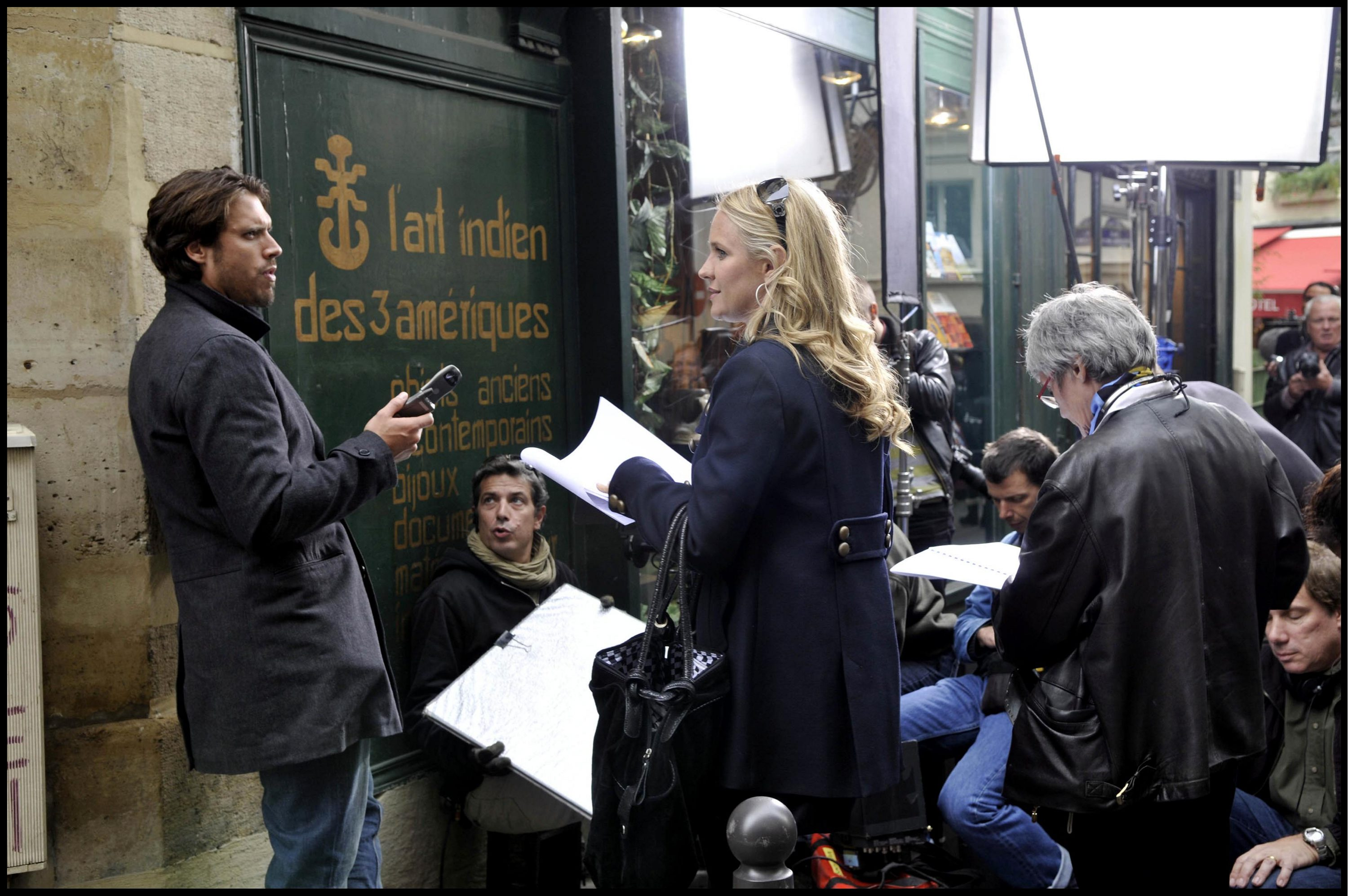 """Sharon Case, Joshua Morrow """"The Young and the Restless"""" Location - Behind the Scenes Paris, France 10/8/08 ©Pierre Guibert/Visual/jpistudios.com 310-657-9661 Episode # 9015, 9016, 9017"""