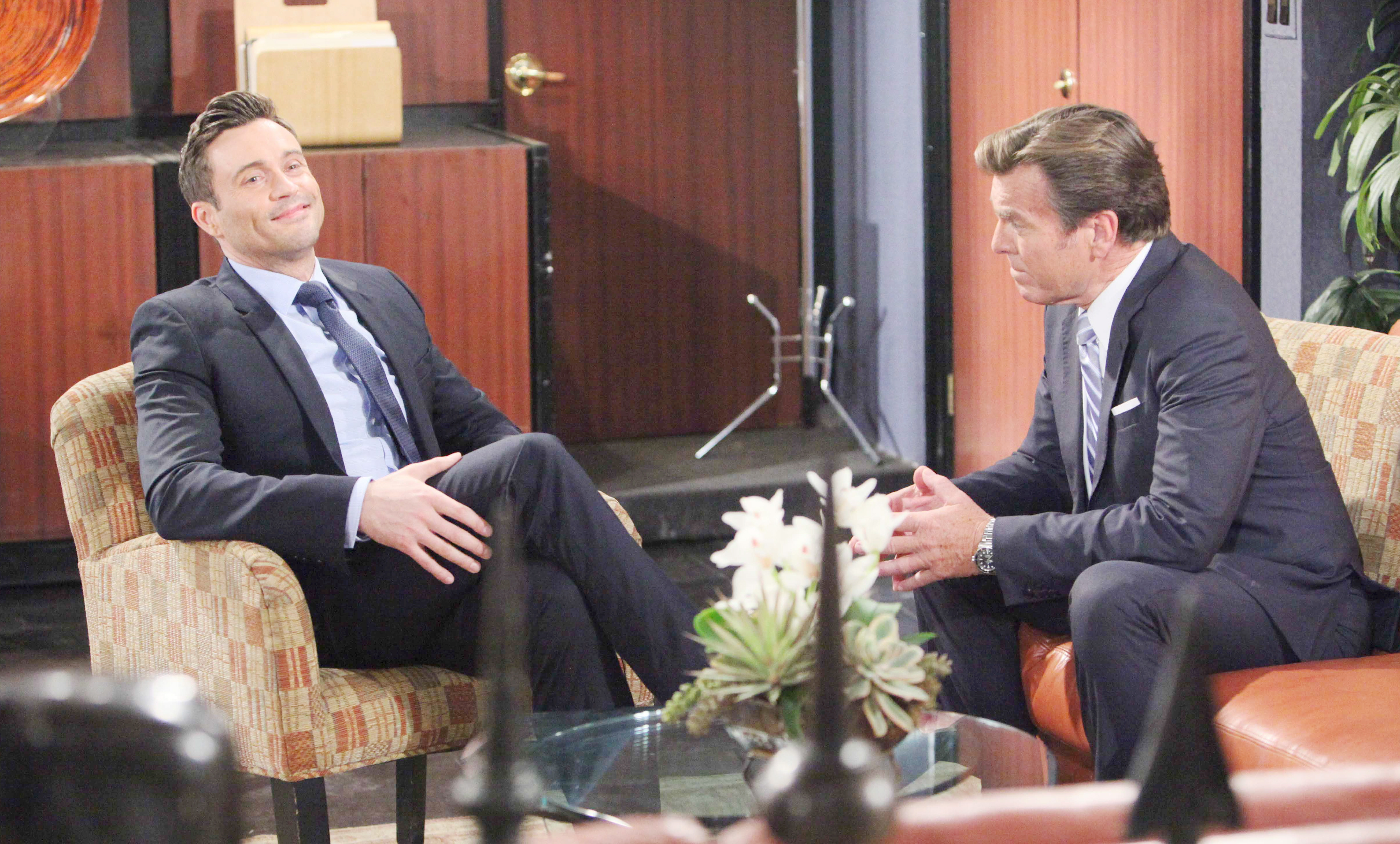 """Daniel Goddard, Peter Bergman """"The Young and the Restless"""" Set  CBS television City Los Angeles 06/09/17 © Howard Wsie/jpistudios.com/Sony Pictures Television 310-657-9661 Episode # 11226 U.S. Airdate 07/24/17"""