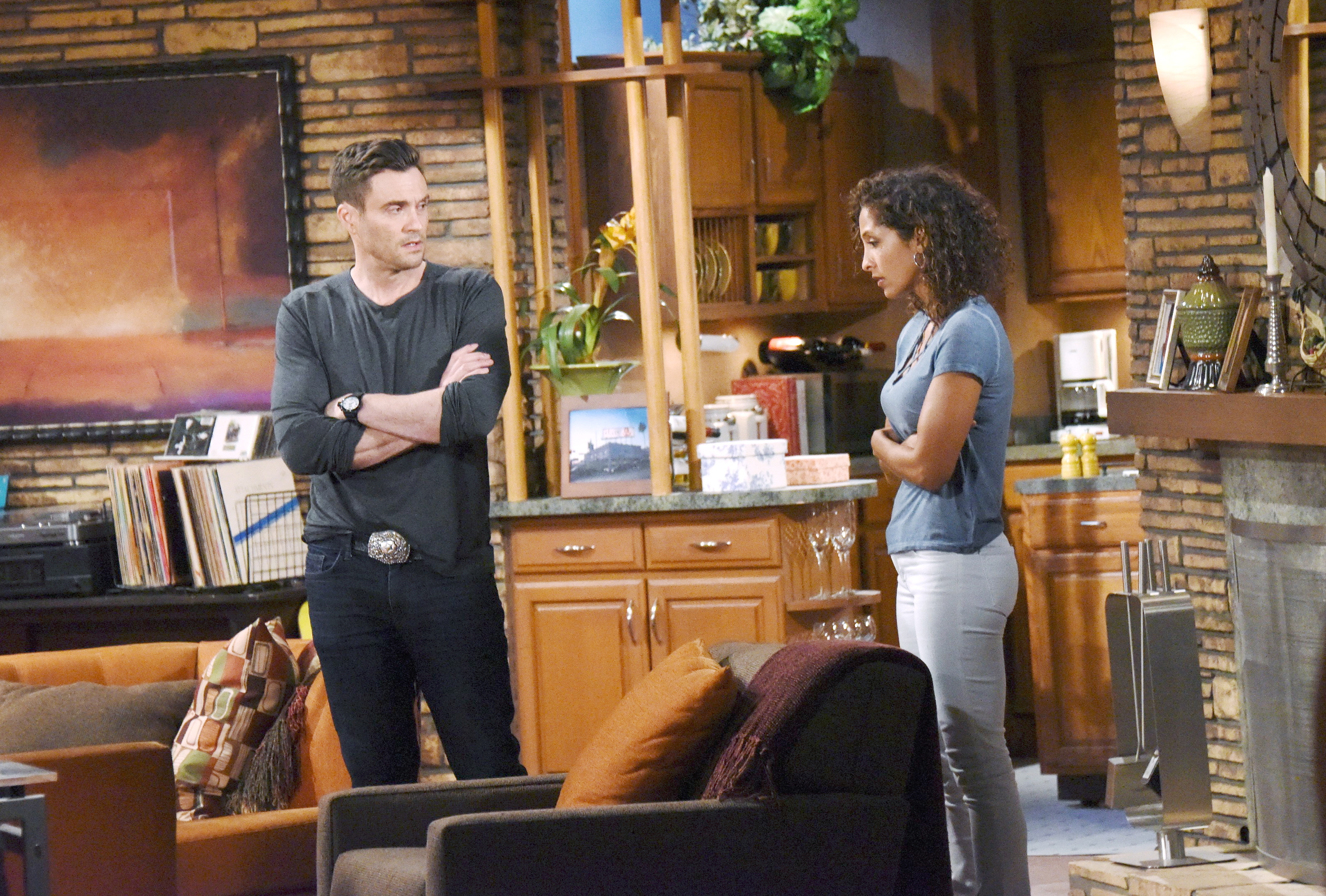 Cane interrupts a warm moment between Lily and Jordan on The Young and the Restless