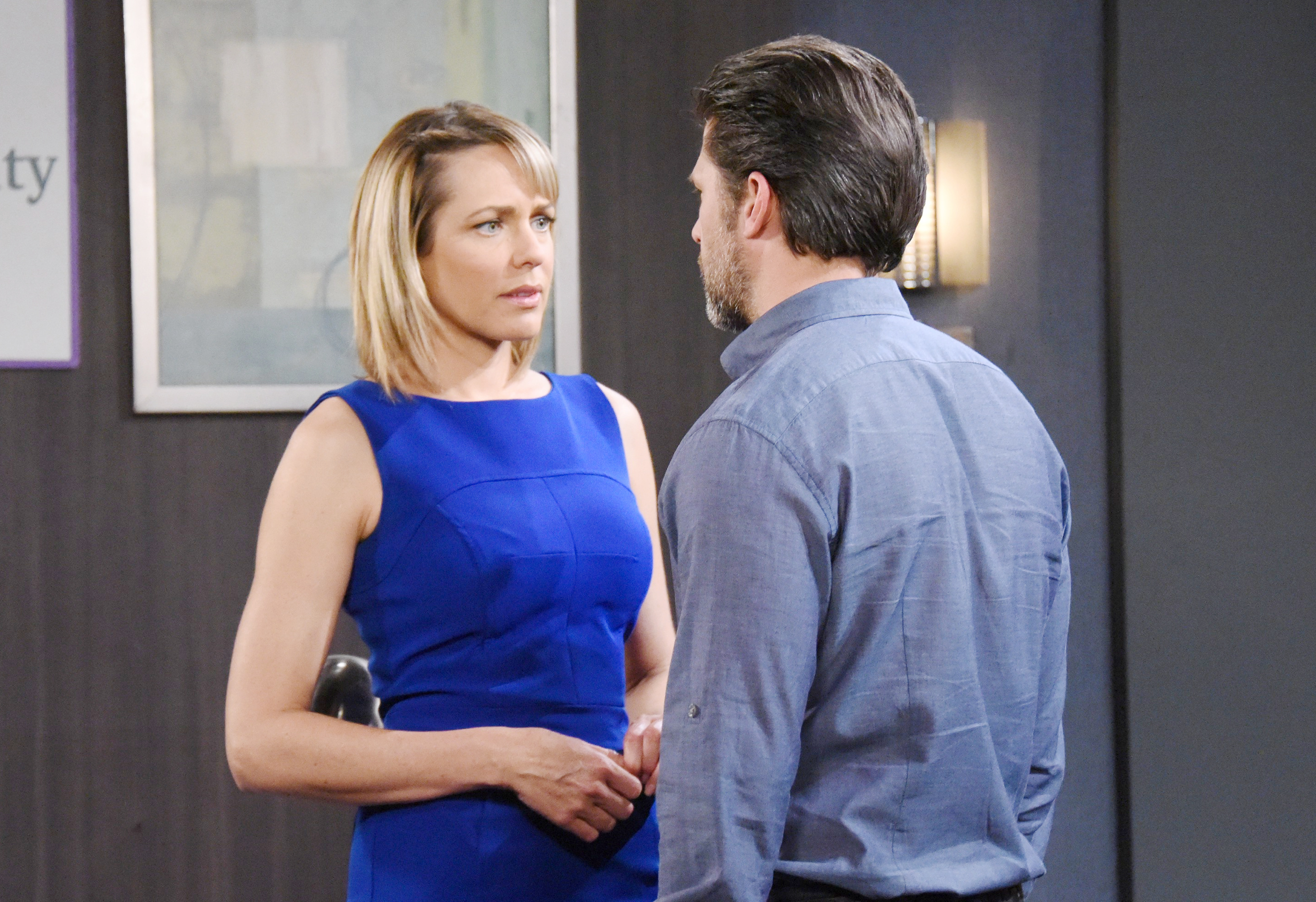 The Young and the Restless Spoilers: Eric and Nicole share a close moment.