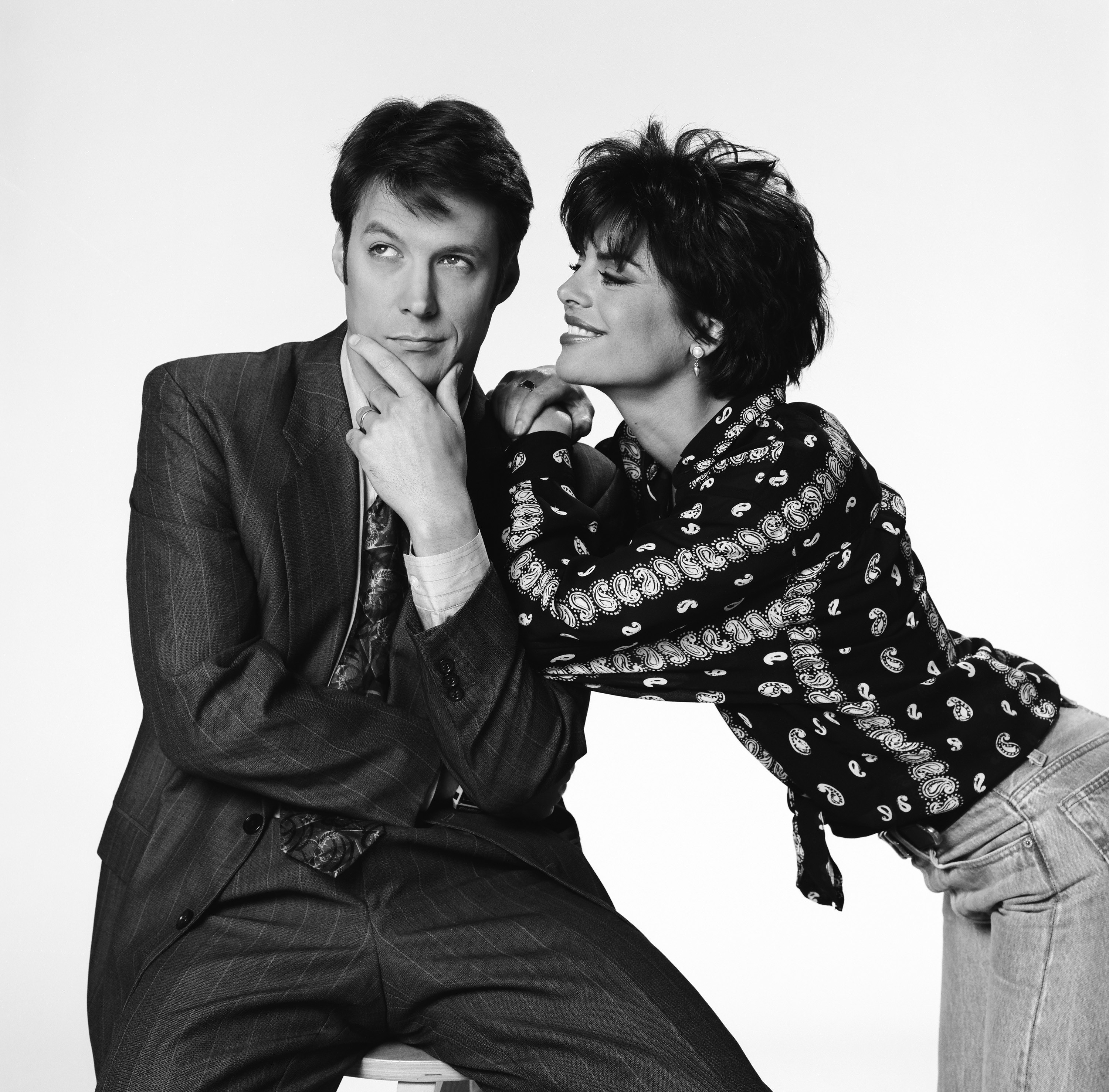 DAYS OF OUR LIVES -- Season 28 -- Pictured: (l-r) Matthew Ashford as Jack Deveraux, Lisa Rinna as Billie Reed -- Photo by: Gary Null/NBC/NBCU Photo Bank