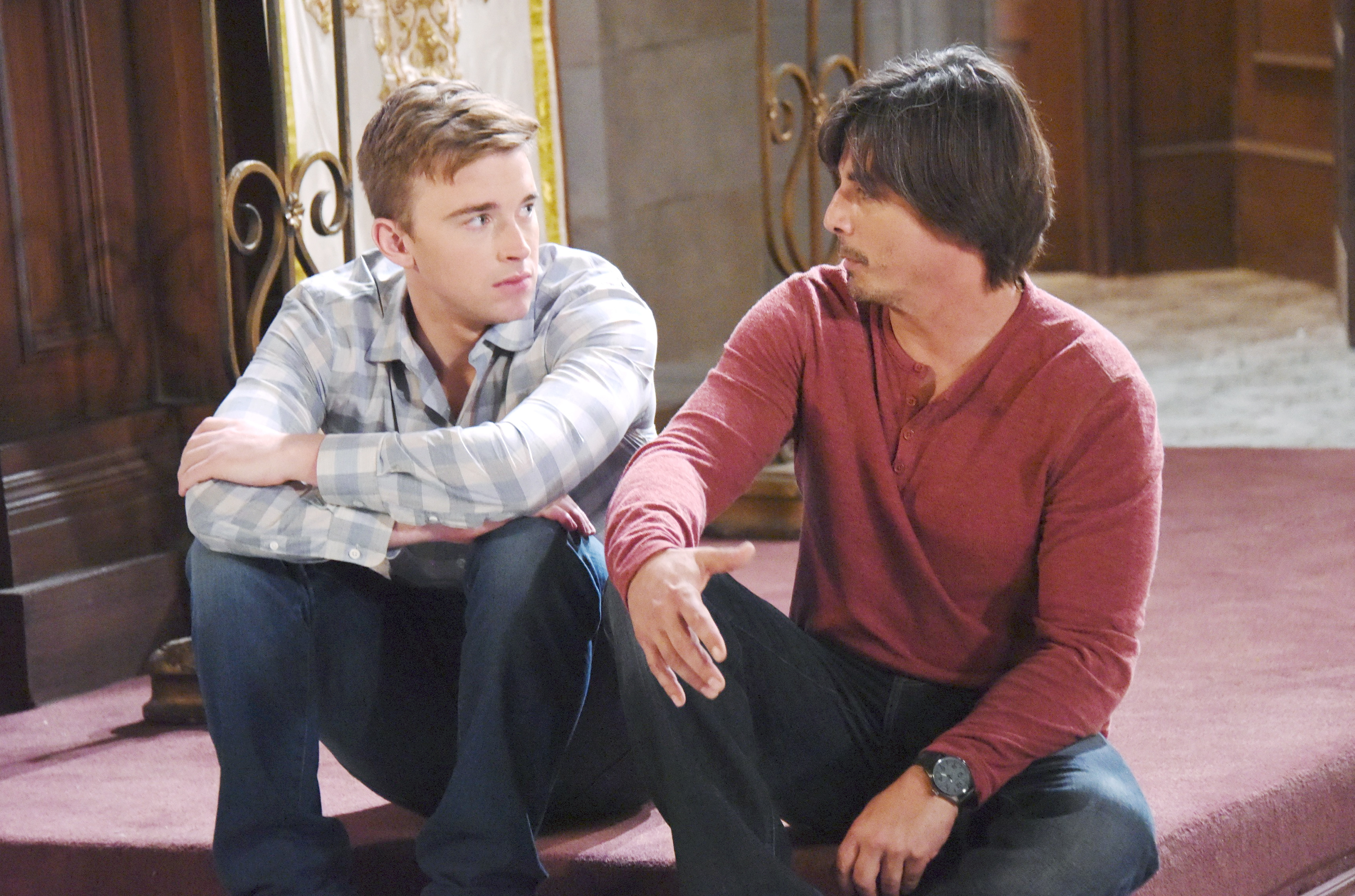 Will Horton appears in a vision to his father Lucas Horton on Days of Our Lives