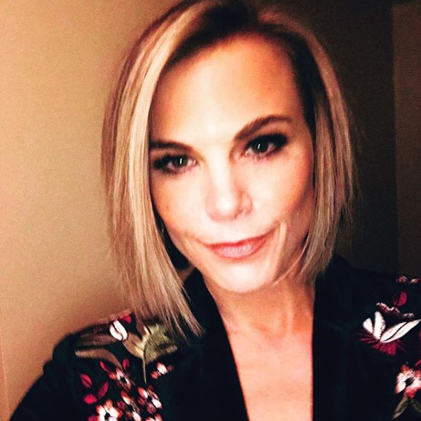 Gina Tognoni shows off her hair cut for Phyllis on The Young and the Restless