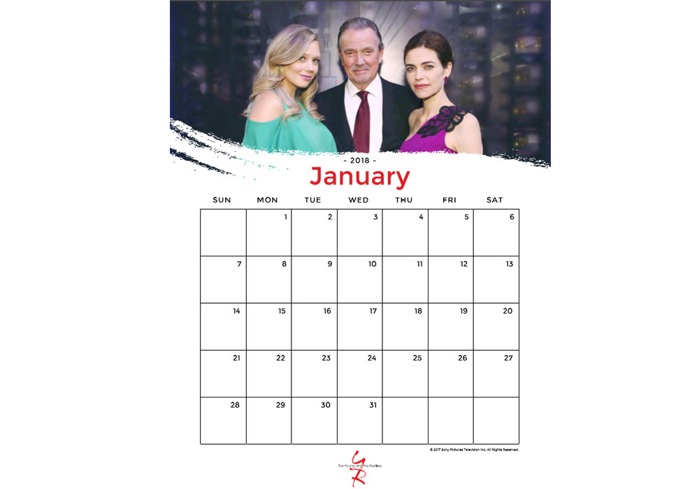 The Young and the Restless Calendar by Globaltv.com