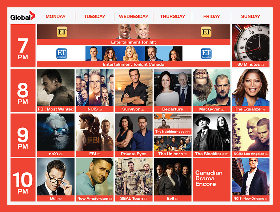 Global TV 2020 Fall Schedule